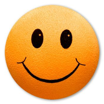Smiley Face Orange Antenna Ball Topper