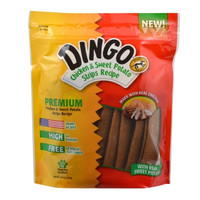 Dingo Jerky Chicken & Sweet Potato Strips For Dogs Made in USA 12.5 oz