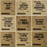 SALE- Walking Dead coasters-  25 designs available for you to make our own custom set of 4