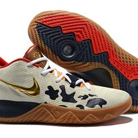 NIKE ZOOM ASSERSION EP Kyrie 3 Beige/Gold Basketball Shoe