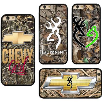 Camo Chevy Hard Phone Case Cover Fits For Touch/ iPhone/ Samsung/ LG/ Sony