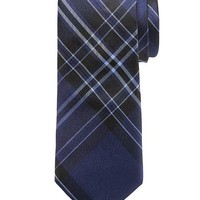 Banana Republic Bold Plaid Silk Tie Size One Size - Blue