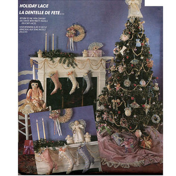 CHRISTMAS CRAFTS PATTERN Ornaments Victorian Boot Stockings Wreath Angel Tree Topper Skirt McCalls 5013 UNCuT Holiday Craft Sewing Patterns