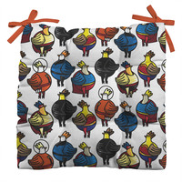 Raven Jumpo Super Chicks Outdoor Seat Cushion