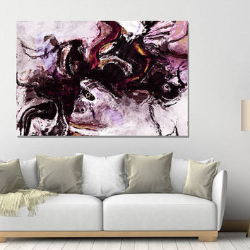 Purple Abstract Art Print, Large Abstract Print of Modern Paintings, Abstract Wall Art / Wall Decor, Modern Art, Purple Surrealist Paintings