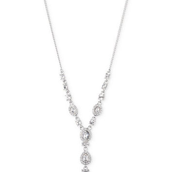 Givenchy Multi-Crystal and Pavé Y-Neck Necklace - Day-of Jewelry - Women - Macy's