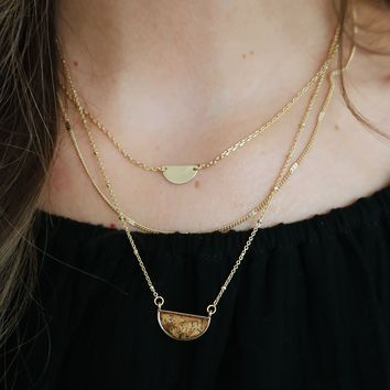Always A Chance Necklace: Gold