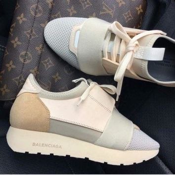 BaLenciaga Trending Women Men Race Runners Sport Shoe Sneaker I