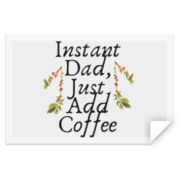 Instant Dad Cute Father's Day Gift For Father From Wife, Girlfriend, Daughter, Son, Stepdaughter, Stepson, Mom, Grandma, Mother In Law ( TEST STRE Rectangle Sticker)