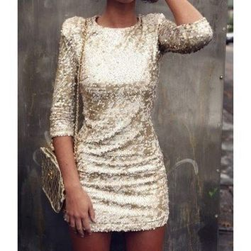 alice + olivia Breck Sequin Dress | SHOPBOP