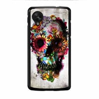 Floral Sugar Skull Nexus 5 Case