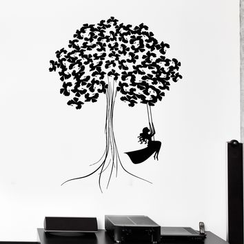 Vinyl Wall Decal Beautiful Decor Tree Teen Girl Wood Art Kids Room Stickers Unique Gift (ig2797)