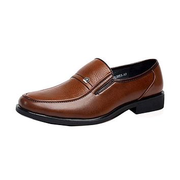 Men's soft leather dress / casual shoe oxfords flats