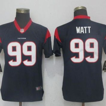 Women Nike Men's Houston Texans 99 Watt Navy Blue 2017 Vapor Untouchable Elite Player