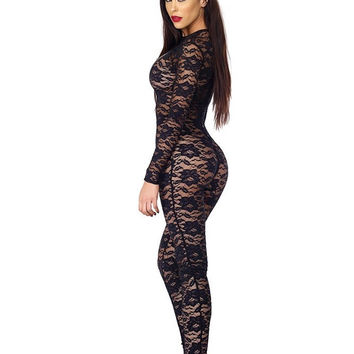 Role Play Lace Catsuit in XS/S