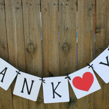 Thank You Banner / Weddings / Engagements / Photo Prop / Wedding Garland / Sign / Thank You Card / Wedding Decor
