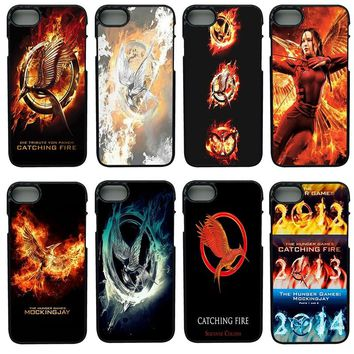 Hot The Hunger Games Movie Logo Cell Phone Cases Hard Plastic Cover for iphone 8 7 6 6S PLUS X 5S 5C 5 SE iPod Touch 4 5 6 Case