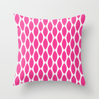Velveteen Pillow - Fuchsia Ikat Petals  - Spring Decorations  - Pink Throw Pillow - Housewares - Teen Room Decor - Girls Bedroom