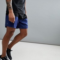 New Look SPORT Shorts With Colour Blocking In Black And Navy at asos.com