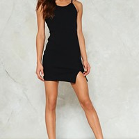 One-Slit Wonder Bodycon Dress