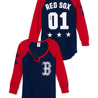 Boston Red Sox Split-Neck Baseball Tee - PINK - Victoria's Secret