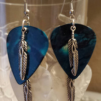Guitar Pick Earrings - Betsy's Jewelry - Country Western - Rodeo - Native American Styles