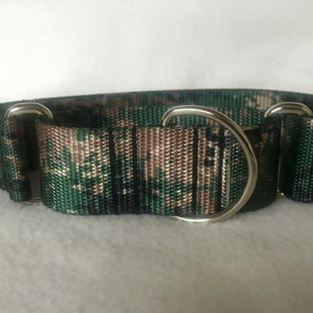 "Jarhead Camo Martingale or Quick Release Collar Nylon 3/4"" 1"" Martingale 1.5"" Martingale 2"" Martingale"