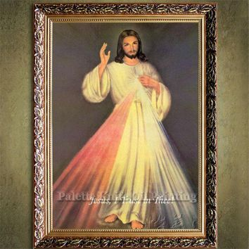 Jesus Christ Jesus Canvas Posters and Prints Wall Art Pictures for living room Home Decor cuadros decoracion Oil painting 59