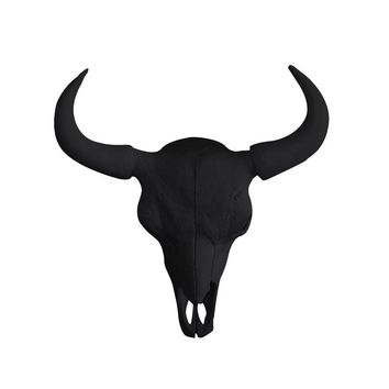 The Large Yellowstone Skull | Buffalo Bison Skull | Faux Taxidermy | Black Resin