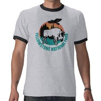 Yellowstone national park bison shirt from Zazzle.com