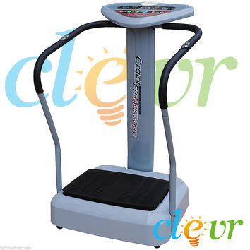 Whole Body Full Vibration Pro Massage Machine Plate Platform Crazy Fit Fitness