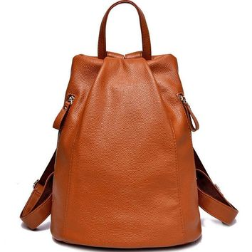 Split leather woen's bags Fashion Women Backpacks mochila Ipad Bucket bag