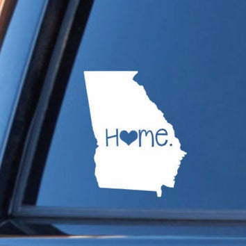Georgia Home Decal | Georgia State Decal | Homestate Decals | Love Sticker | Love Decal  | Car Decal | Car Stickers | Bumper | 050