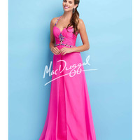 Mac Duggal 65113L Hot Fuchsia Jeweled Halter Sweetheart Dress 2015 Prom Dresses