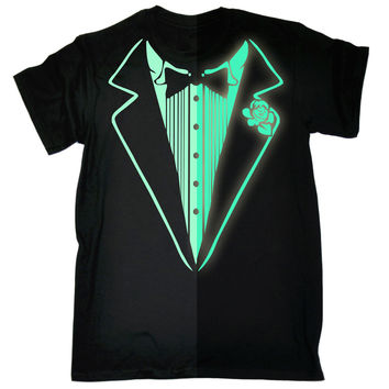 123t USA Men's Glow In The Dark Tuxedo Funny T-Shirt