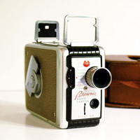 Vintage 8mm Mid-Century Camera with Case