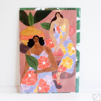 Floral Lounge Greeting Card