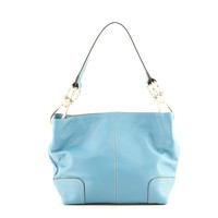 New Tosca Handbag, Purse Bucket Style Shoulder Bag Leather Look, 640 Color New Blue