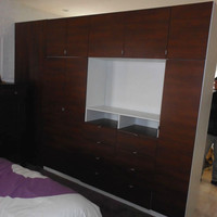 Wardrobe as Room Divider in Brooklyn Apartment  –  Custom Furniture Projects