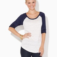 Burnout Baseball Tee | Tops - Fashion Apparel | charming charlie