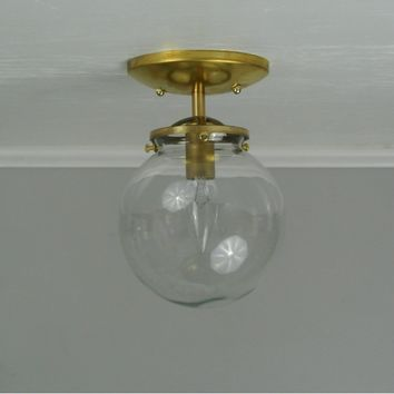 Petite Globe Flush Mount Ceiling Light