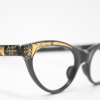 cat eye glasses rhinestone cateye eyeglasses NOS Vintage