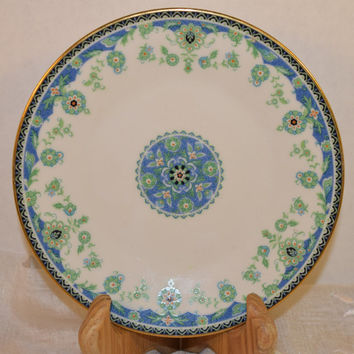 Noritake Persia 2403 Bread Plate Vintage Small Plate Blue Green Hard to Find 1970s Noritake Replacement Discontinued China Afternoon Tea