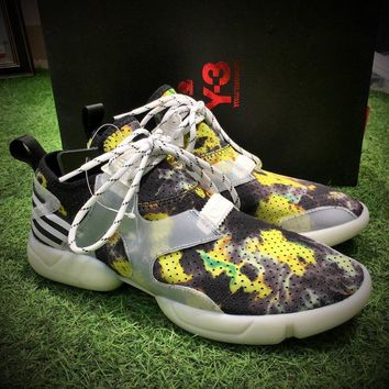 Best Online Sale Fashion Yohji Yamamoto Y-3 KOHNA SNEAKERS Yellow Painted Sport Shoes