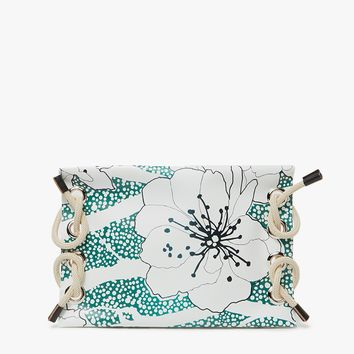 Marni / Satelite Printed Clutch in Emerald