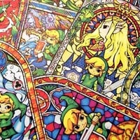 The Legend of Zelda sticker pack (pack 3: Stained Glass) from Stickerama