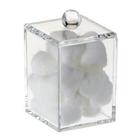Square Acrylic Organizer with Lid by Danielle - Tall