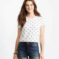 Seriously Soft Sailboat Crop Easy Tee