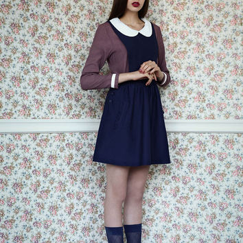 Mother's day Sale, Pinafore dress, Blue dress, Jumper dress, Womens dress, Navy dress, Blue pinafore dress, Blue jumper dress, ON SALE