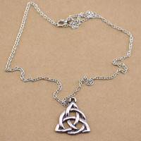 Trinity Knot Irish Pendant Wicca Necklace